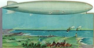 Zeppelin - Kinderbuch mit gestanztem Umriss des Zeppelin LZ 127.