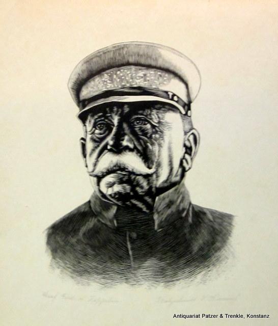 Porträt. Orig.-Holzschnitt von V(iktor) Himmel, bezeichnet und signiert. Um 1930.
