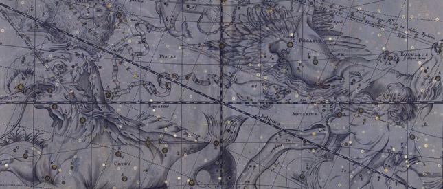 Antiquarische Sternenkarten