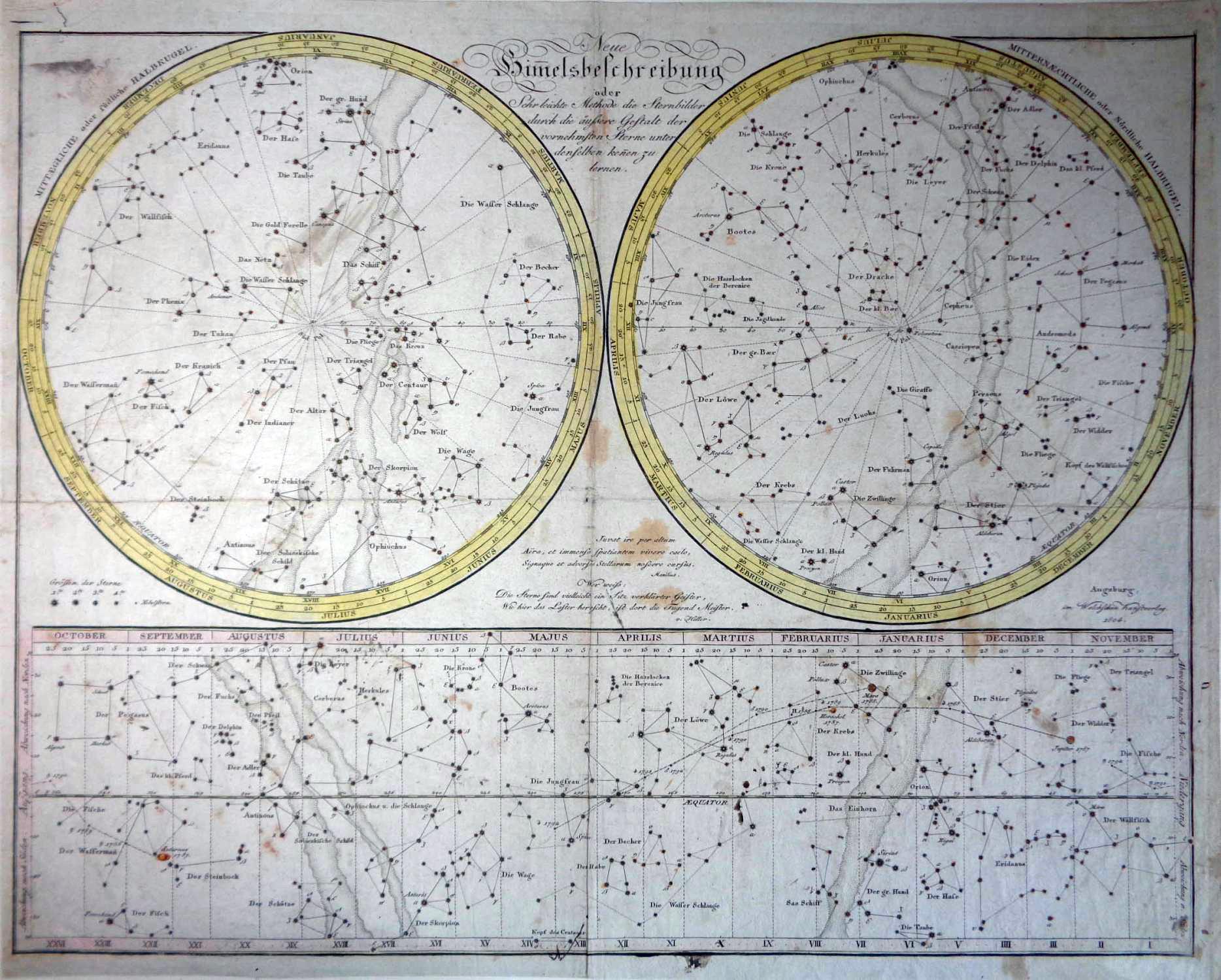 Neue Himmelsbeschreibung oder sehr leichte Methode die Sternbilder durch die äussere Gestalt der vornehmsten Sterne unter denselben kennen zu lernen