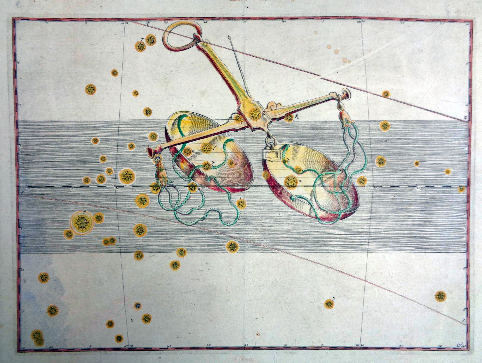 Waage aus Uranometria, omnium asterismorum continens schemata