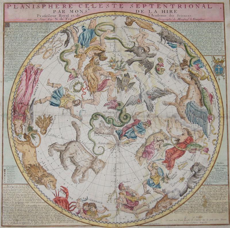 Planisphere Cheleste Septentrional par Mons Sr. De la Hire