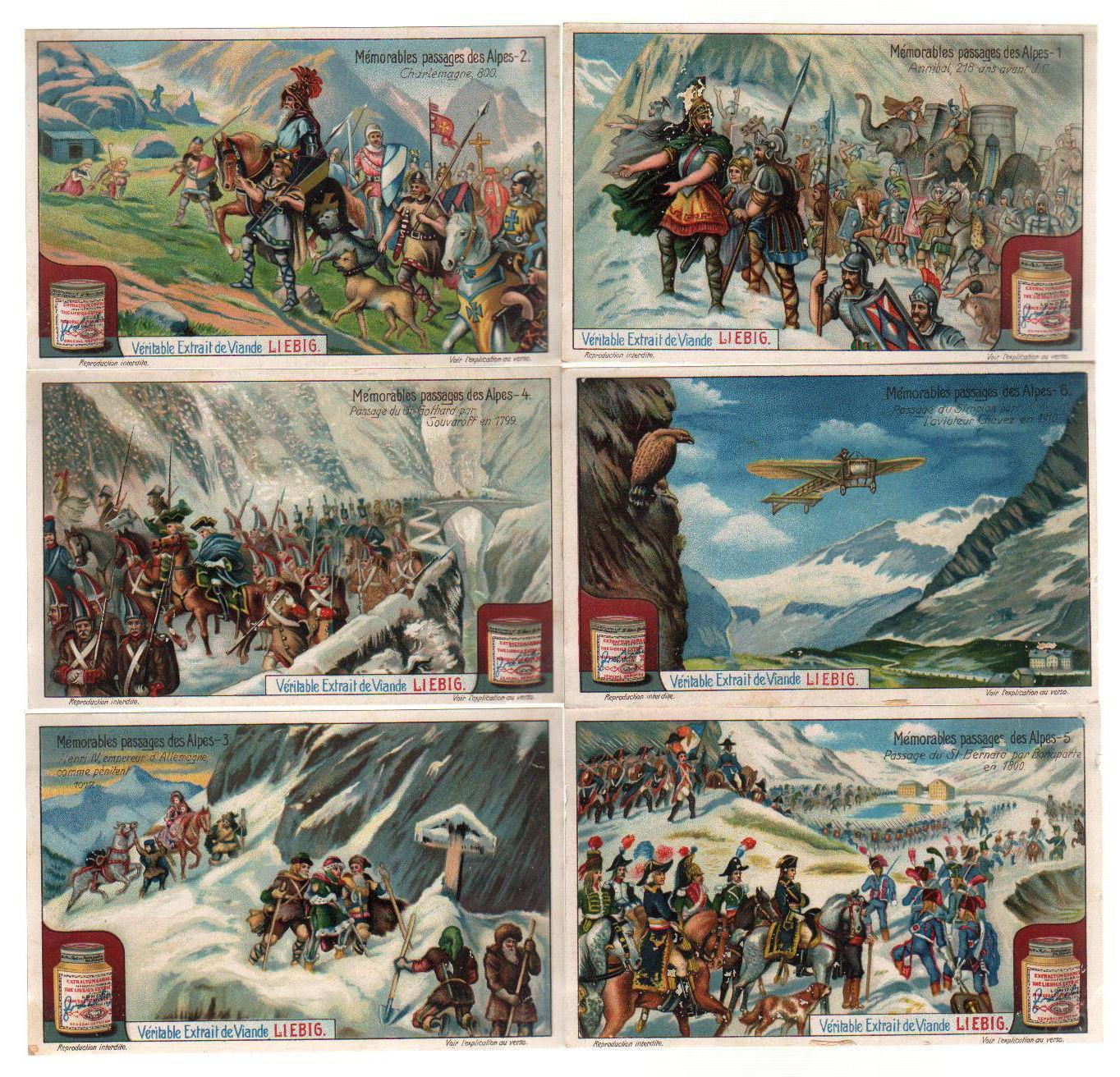 Liebig Sammelbilder Alpen