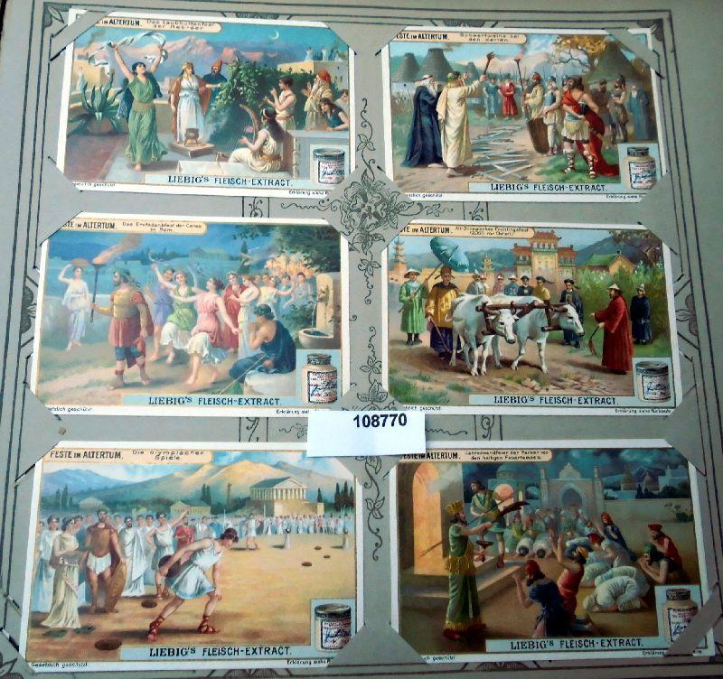 Liebig Sammelbilder Feste im Altertum