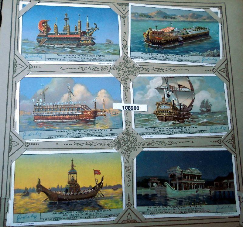 Liebig Sammelbilder Prunkschiffe vergangener Zeiten