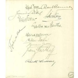 Signiertes Albumblatt (1925)