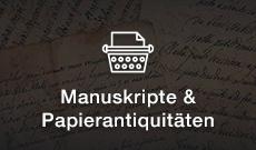 Entdecken Sie Manuskripte & Papierantiquitäten